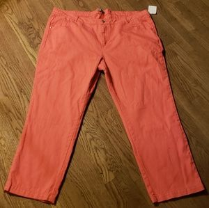 Jessica London coral colored jeans.  Size 24
